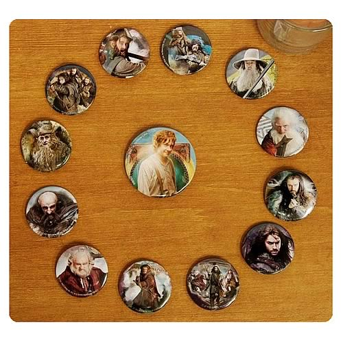 The Hobbit An Unexpected Journey Cast Pin Set 13-Pack