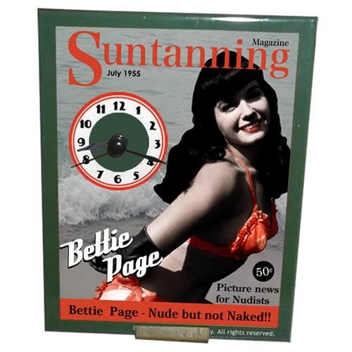 Bettie Page Mini Desk Clock