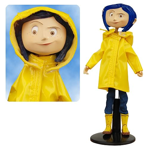 Coraline Raincoat Bendy Doll