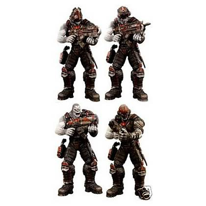 Gears of War Locust Hive Action Figures, Gears of War, Action Figures, Neca