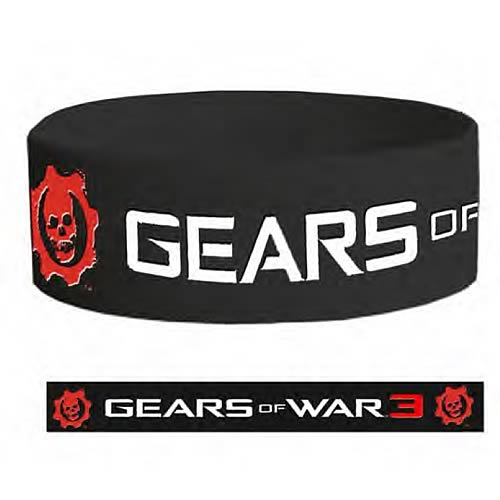 Gears of War 3 Logo Rubber Bracelet