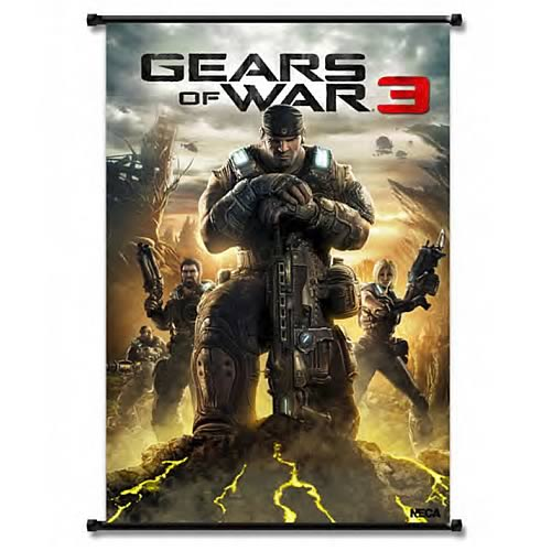 Gears of War 3 Box Art Wall Scroll