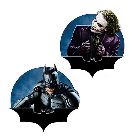 Batman: The Dark Knight Batman and Joker Resin Magnets