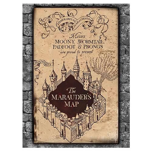 Harry Potter Marauder's Map Puzzle