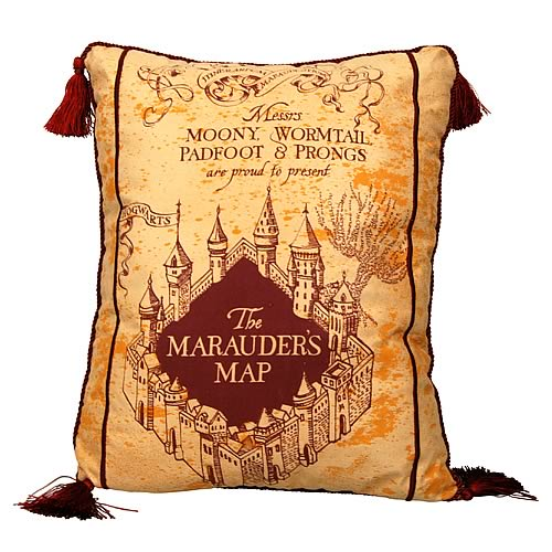 Harry Potter Marauder's Map Throw Pillow