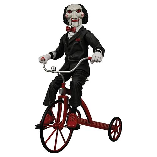 Saw Billy the Puppet with Tricycle 12-Inch Action Figure