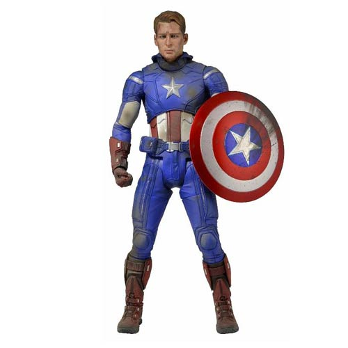 Avengers Battle Damaged Captain America 1:4 Scale Figure