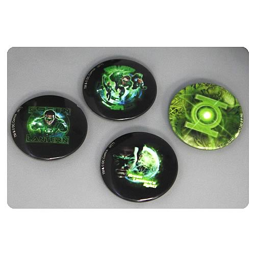 Green Lantern Movie Green Lantern Corps Pin 4-Pack