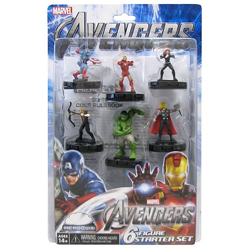 Avengers Movie HeroClix 6-Pack Starter Set