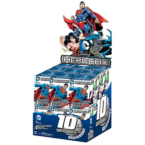 DC HeroClix 10th Anniversary Countertop Display Box
