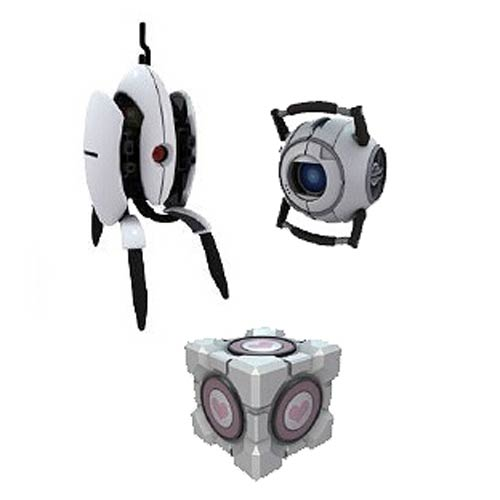 Portal 2 Sentry Turret Series 3 Mini-Figure 4-Pack