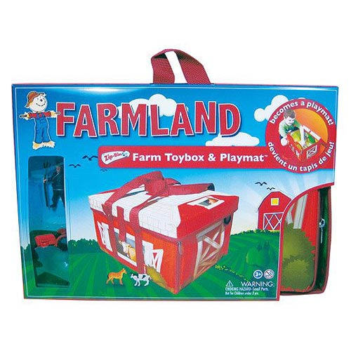Farmland ZipBin Toy Box and Playmat Carry Case