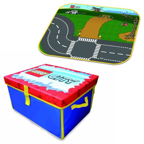 Lego city zipbin medium toy box and playmat carry case for Case lego city