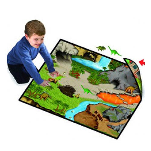 Dinosaur Prehistoric World 2-Sided Playmat Carry Case