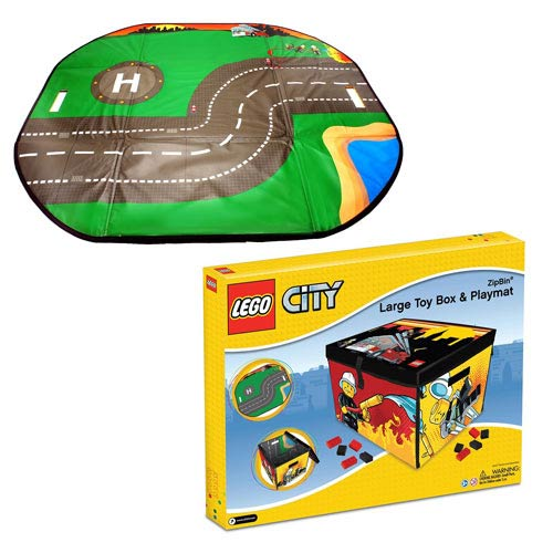 Lego city fire zipbin large toy box and playmat carry case for Case lego city