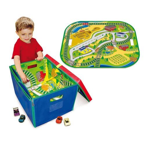 Full Throttle ZipBin Road and Rail Playmat Carry Case