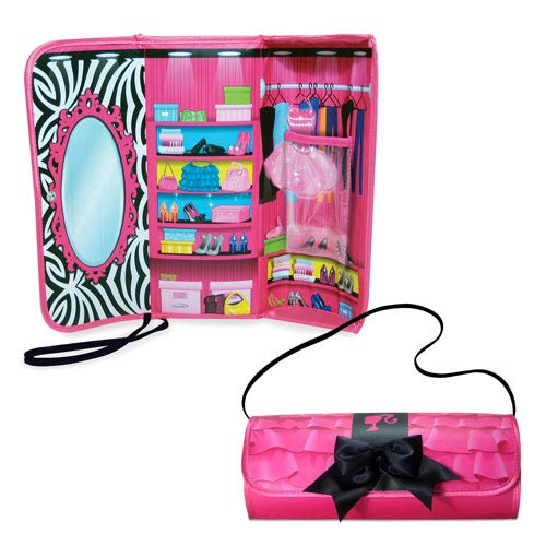 Barbie Black Bow Clutch and Closet Carry Case