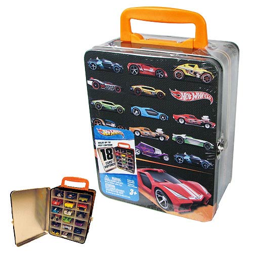 hot wheels 18 car vintage tin carry case neat oh hot. Black Bedroom Furniture Sets. Home Design Ideas
