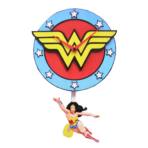 Wonder Woman 3-D Pendulum Wall Clock