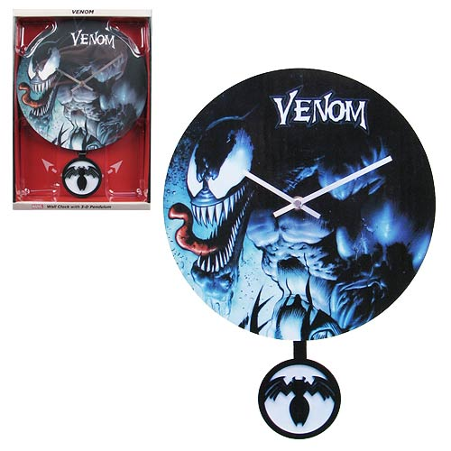 Spider-Man Venom 3-D Pendulum Wall Clock