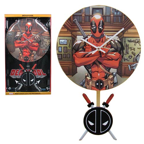 Deadpool 3-D Pendulum Wall Clock
