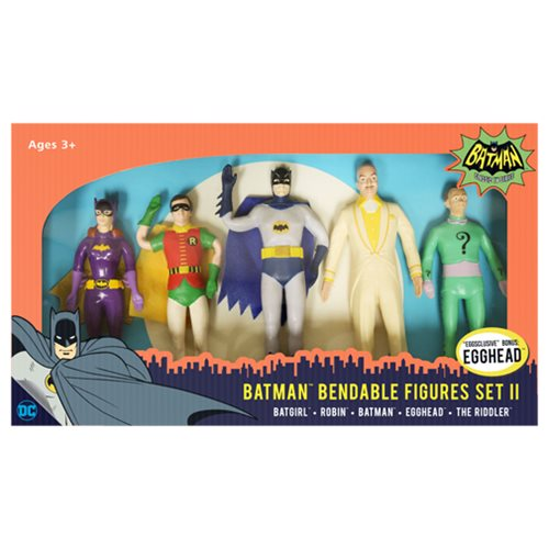 Batman Classic TV Series Bendable Figure Box Set Wave 2