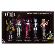 Batman Adventures Girls Night Out Bendable Action Figure Set