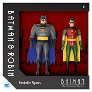 Batman: TAS Batman and Robin 5 1/2-Inch Bendable Figures