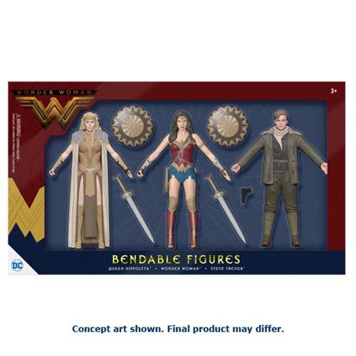 Wonder Woman Movie Bendable Action Figure Boxed Set