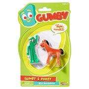 Gumby and Friends Gumby & Pokey Mini Bendable Figure 2-Pack