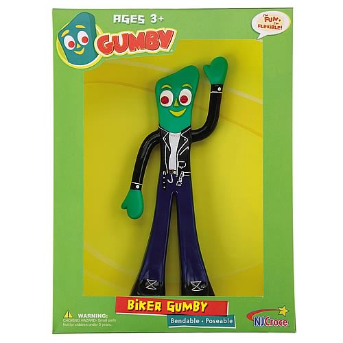 Gumby and Friends Biker Gumby Bendable Figure