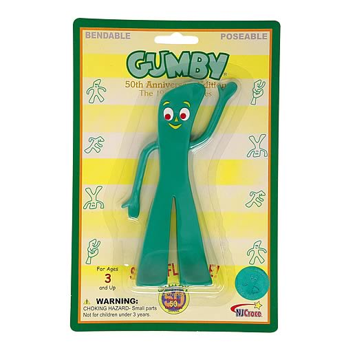 Gumby and Friends Retro Gumby Bendable Figure