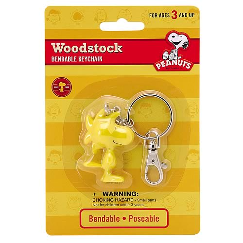 Peanuts Woodstock Bendable Key Chain