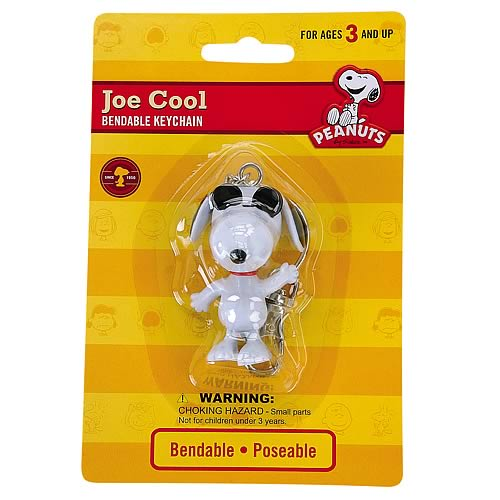 Peanuts Joe Cool Snoopy Bendable Key Chain
