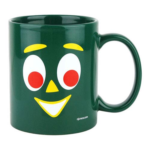 Gumby Face Ceramic Green Mug