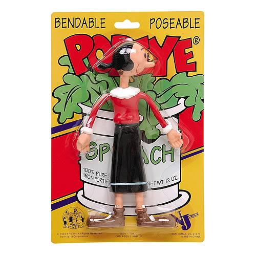 Popeye Olive Oyl Bendable Figure