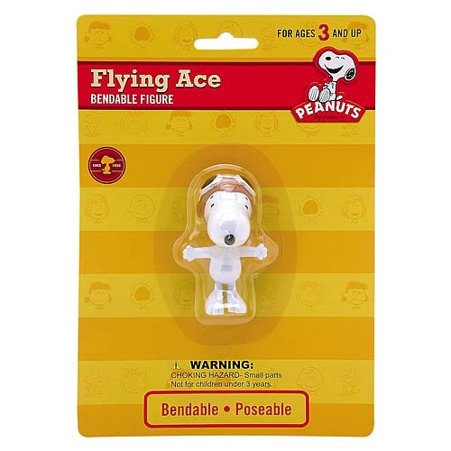 Peanuts Flying Ace Snoopy Bendable Figure