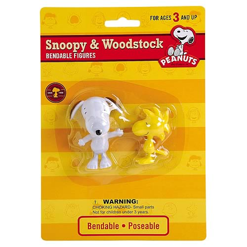 Peanuts Snoopy and Woodstock Bendable Figures
