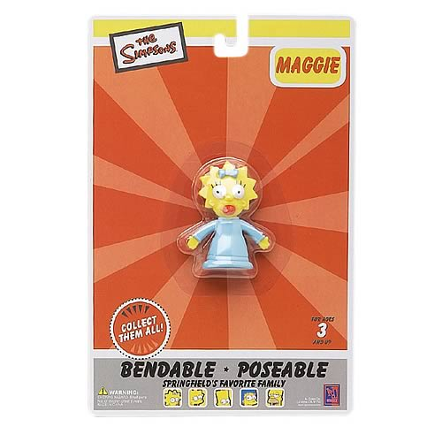 Simpsons Maggie Simpson Bendable Figure