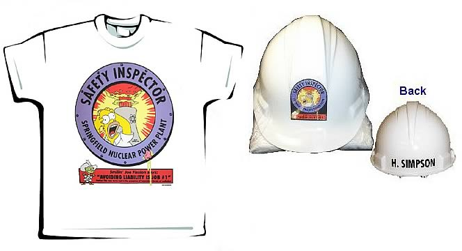 Homer Safety Inspector Helmet & T-Shirt