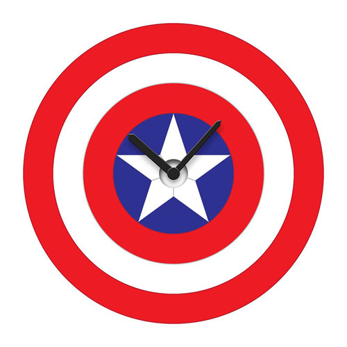Captain America Shield Wobble Wall Clock
