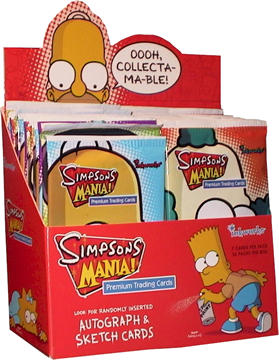 Simpsons Mania Cards Box