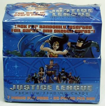 Justice League Trading Cards Display Box