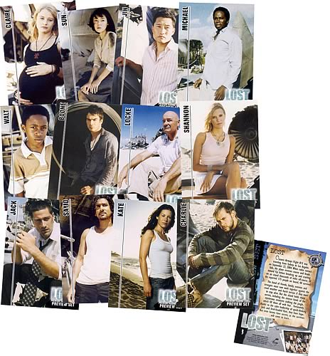 LOST Premium Trading Cards Preview Set