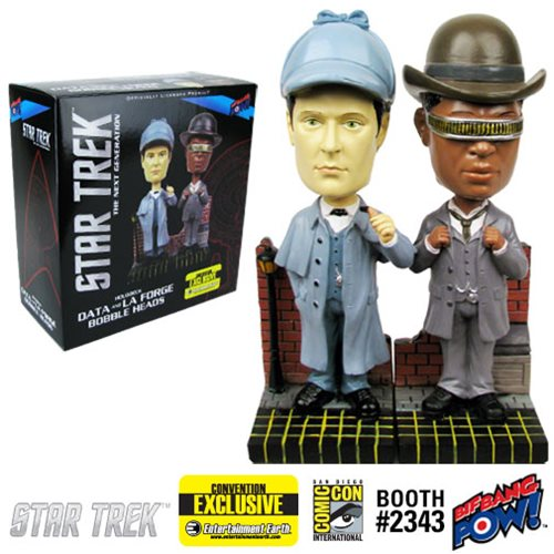 Star Trek: TNG Sherlock Holmes Bobble Heads-2 Set, Not Mint