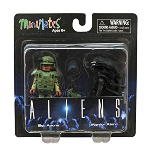 Aliens Minimates Sgt. Apone and Alien 2-Pack, Not Mint