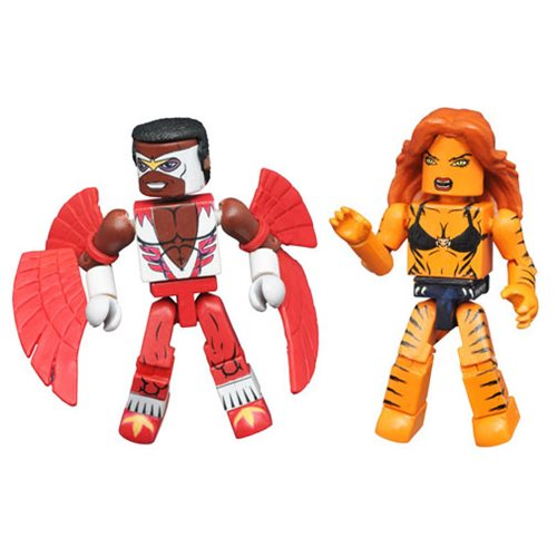 Marvel Minimates Tigra and Classic Falcon 2-Pack, Not Mint
