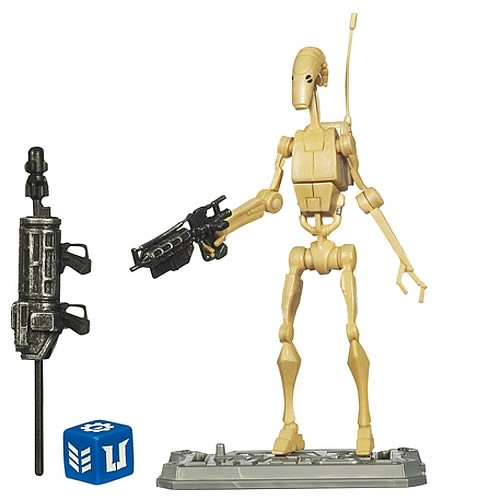 Star Wars Clone Wars Battle Droid Action Figure, Not Mint