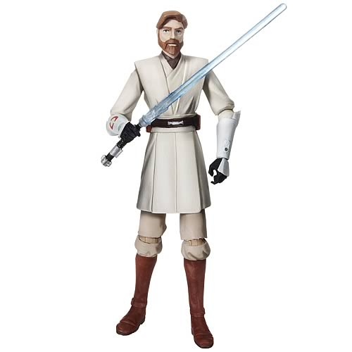 Star Wars Clone Wars Obi-Wan Kenobi Action Figure, Not Mint