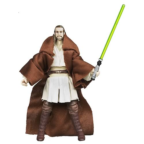 Star Wars 2012 Vintage Qui-Gon Jinn Action Figure, Not Mint